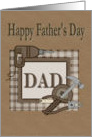 Happy Fathers Day carpenter theme card