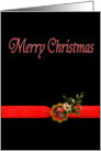 Merry Christmas, Red and Black card