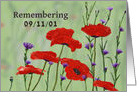 Patriot Day 9/11/01 ,Poppies and Bachelor Buttons card