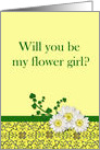 Flower Girl request with daisies card