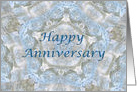 Happy Anniversary, Blue lace abstract card