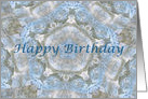 Happy Birthday, Blue lace abstract card
