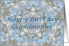 Happy Birthday Grandmother, Blue lace abstract card