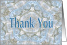 Thank you, Blue lace abstract card