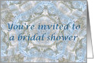Bridal Shower Invitation, Blue lace abstract card