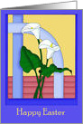 White Calla Lilies Easter card