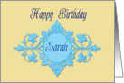 Happy Birthday, Sarah Baroque Wreath card
