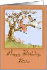 Happy Birthday, Sister, Vintage card