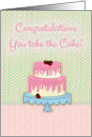 Congratulations, Strawberry Two Tiered Cake card