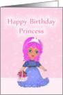 Happy Birthday Princess Purple Haired Princess card