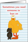 Someone to Lean on, Friendship Humor card