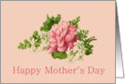 Mother's Day, vintage jasmine and pink peony card