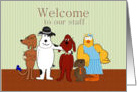 Welcome to Our Staff, Humor, Group of Cartoon Animals card