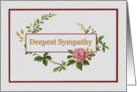 Sympathy with Vintage Pink Rose card