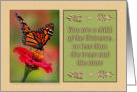 Encouragement, with Photograph of Monarch Butterfly card