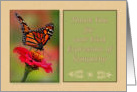Thanks for Sympathy, with Photograph of Monarch Butterfly card