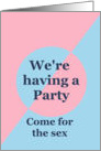 Gender Reveal Party, Pink and Blue card