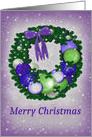 Merry Christmas, Purple, Blue and Lime card