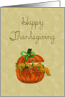 Happy Thanksgiving Pumpkin Centerpiece card