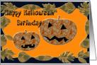 Happy Halloween Birthday jack-o-lanterns card