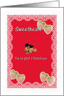 Valentine for Sweetheart so glad I found you card