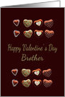 valentine for brother, chocolate hearts card
