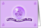 Happy Mother's Day Purple flowers and dragonfly card