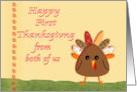 Happy First Thanksgiving from both of us, cute turkey card