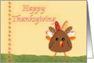 Happy Thanksgiving, cute turkey card