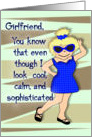Thanks for being my friend, Girlfriend humor, Cartoon Girl card