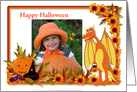 Halloween photo card with dragon and jack-o-lanterns card