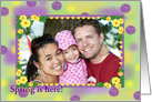 Spring Colors Photo Frame card