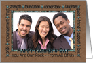 For Dad on Father's Day From All of Us - Custom Photo card