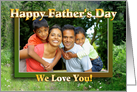 Mountain Meadow Father's Day Photo Card