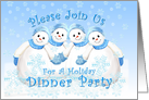 Holiday Dinner Party Snowmen Invitation card