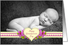 Flowers and Hearts Grandparents Day Photo Card