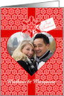 Red Lace First Christmas for Couple Photo Card