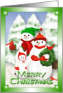 Snowman Christmas Family Fun Across the Miles card
