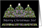 Merry Christmas Sis card