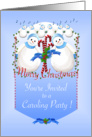 Snowmen Christmas Caroling Party Invitation card