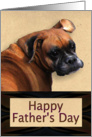 Father's Day Boxer Dog card