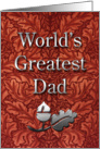 World's Greatest Dad from Daughter card