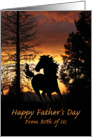 From Both of Us Father's Day Wild Horse Sunset card
