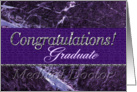 M.D. Graduate Congratulations Purple card