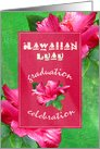 Graduation Luau Party Invitations card