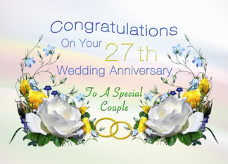 Wedding Anniversary Gifts 27th Year : ... Results for ?Images For 1 Marriage Anniversary? Calendar 2015