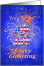 4th of July Fireworks Family Gathering Invitation card
