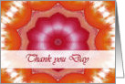 Thank you Day, Orange Pink Mandala card