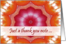 Thank you Note for Hostess and Host, Orange Pink Mandala card