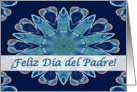 Spanish Father's Day, Blue Hearts Mandala card